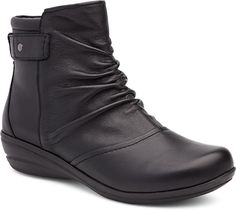 Dansko May Boots: Black Milled Nappa Leather