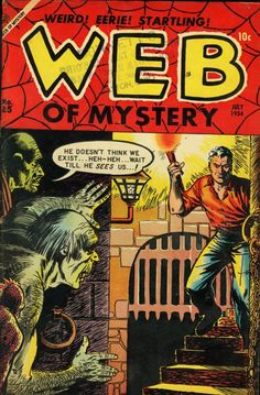 Comic Book Cover For Web of Mystery #25