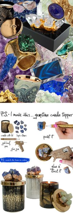P.S.-I made this...Gemstone Candle Topper #PSIMADETHIS #DIY