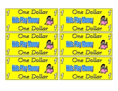 Printable Play Money for Kids | Activity Shelter