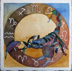 AstroSpirit / Scorpio ♏ / Water / Sternzeichen Skorpion (c) Aquarell von FRank Koebsch