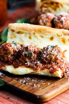This is without a doubt the best meatball sub sandwich on the planet. With the marina and meatballs made from scratch, this sammy rules! Meatball Sub Sandwiches, Meatball Sub Recipe, Meatball Recipes, Beef Recipes, Cooking Recipes, Recipies, Meatball Marinara Sub, Baked Meatball Subs, Cooking Ideas