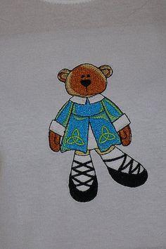 Irish Dancing Bear Tshirt by stitchcottage on Etsy