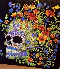 #Imagimorphia #KerbyRosanes #Colouring #Coloringbooks #Prismacolor #Skulls
