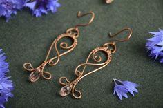 Beautiful unusual handmade long wire wrapped from Metall Magie by DaWanda.com