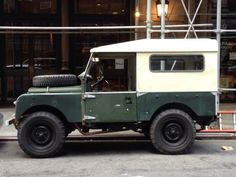 Vintage shades of green Land Rover