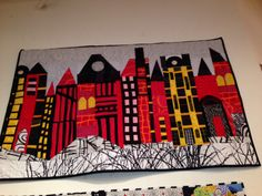 Cityscape by Freddie Moran...in the gallery at Back Porch Fabrics, Pacific Grove.