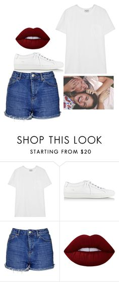 """Untitled #4774"" by adi-pollak ❤ liked on Polyvore featuring Frame Denim, Common Projects, Topshop and Lime Crime"