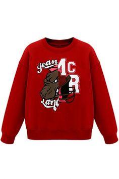 Red Chic Graphic #Sweatshirt - OASAP.com