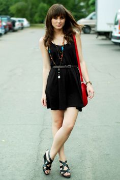 long necklaces with black dress
