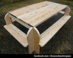 This is a creative twist on a picnic table