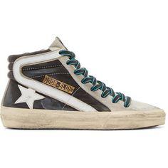 Golden Goose& Grey Slide High-Top Sneakers