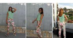 Cómo combinar un pantalón de estampado tropical