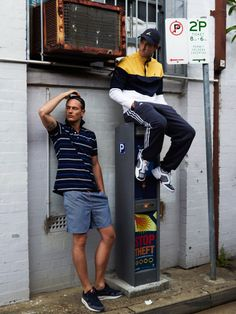 Alex Borst and Luke Kneller photographed by Dan Hilburn and styled by Hugh William Stewart with pieces by Lacoste, Nike, Supreme, Adidas, Nautica and The North Face, in exclusive for Fucking Young! Online.