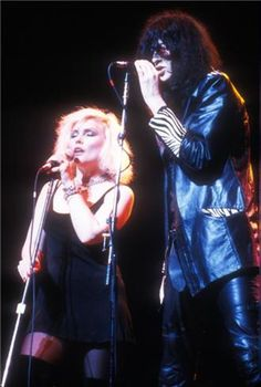 Debbie Harry & Joey Ramone, NYC, 1987, by Bob Gruen.