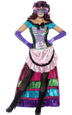 smf-44005-women-s-day-of-the-dead-sugar-skull-dress-with-train-mexican-costume.jpg (750×1200)