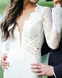 We cannot get enough of the amazing detail on this @bertabridal gown! Seriously stunning  #theknot  via @tamaragrunerphotography