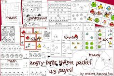 Angry Bird Printable Freebie from another Homeschooler Autism Mom at Creative Learning Fun