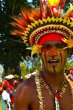 Tribal man, Papua, New Guinea