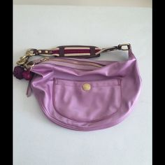 Coach Pink Satin Moon Bag 12x18. Great condition Coach Bags