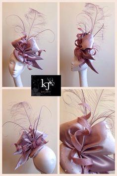 Custom made silk headpiece #kjmillinery #millinery