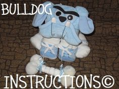 Instructions to make this adorable Diaper Dog by DiaperZooDesigns, $5.99