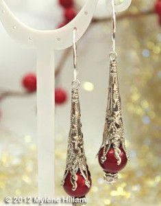 [orginial_title] – Katty Monterrosa Snow Cone Filigree Earrings AllFreeJewelryMak… – Learn How to Make Jewelry, Free Bead Patterns, Find Free Jewelry Making eBooks, and More! Diy Christmas Earrings, Christmas Jewelry, Jewelry Patterns, Beading Patterns, Bracelet Patterns, Beaded Jewelry, Fine Jewelry, Do It Yourself Jewelry, Bead Earrings