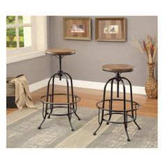 Signature Design by Ashley Pinnadel Light Brown Tall Swivel Barstool (Set of 2)   Overstock.com Shopping - The Best Deals on Bar Stools