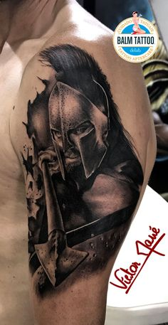 Gladiator tattoo by Victor. Limited availability at Redemption Tattoo Studio. Warrior Tattoos, Viking Tattoos, Wolf Tattoos, Body Art Tattoos, Sleeve Tattoos, Gladiator Tattoo, War Tattoo, Armor Tattoo, City Tattoo