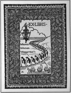 » Bookplate of the week: March of the bibliophilic penguins Modern Books and Manuscripts