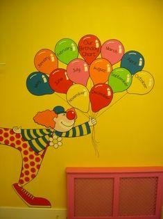 L Jordan Birthday Chart! Birthday Chart Classroom, Birthday Bulletin Boards, Classroom Charts, Birthday Charts, Classroom Walls, Birthday Board, Classroom Decor, Classroom Setting, Classroom Displays