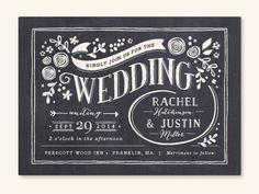 Invitación de boda elegante y clásica
