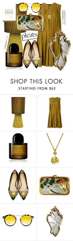 """Pleates"" by yvonne1406 ❤ liked on Polyvore featuring Marni, Byredo, Charlotte Olympia, Silvia Furmanovich and Krewe"