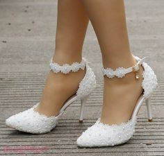 Details about New Womens Pointy Toe Ankle Strap Stilettos High Heels Pumps  Party Wedding Shoes 801b92525ff8