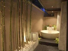 One of Two Balinese Tubs--One in each bedroom wing