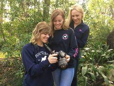 Fall/Winter apparel photoshoot today!!!  Southern Girl Prep | crewneck sweatshirt, long sleeve patchwork and navy quarter zip