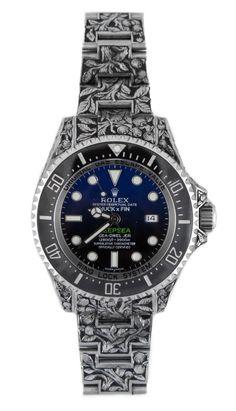 Rolex Sea-Dweller Deepsea - Custom Engraved unique piece by Huckleberry LA - Perpetuelle.
