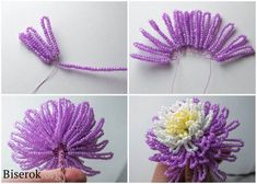 Beaded flowers translate but great pictures looks easy and pretty can t beaded easy flowers great looks pictures pretty translate Beaded Flowers Patterns, Beaded Jewelry Patterns, Crochet Flowers, Beading Patterns, Seed Bead Flowers, French Beaded Flowers, Wire Flowers, Beaded Crafts, Beaded Ornaments