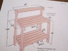 This is a basic design you can get online. With a few changes of our own. With 2 x 4 s and 2 x 5.5 that we had on hand we began construction. Every thing was cu…