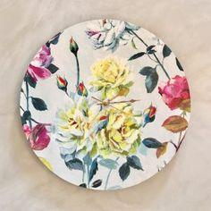 Couture Rose Clock - 50cm Shop Clocks - Kirsty Badenhorst Interiors | Ikat & Ivory | Online Store Rose Clock, Ikat, Clocks, Decorative Plates, Ivory, Interiors, Couture, Tableware, Handmade