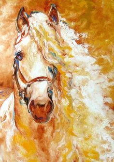 6ccec03c7a50 Golden grace equine abstract Horse Paintings painings by Shreveport