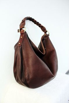 Dark Chocolate leather Bag