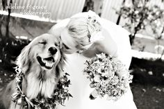 Bride and her dog :) I would definitely do this with my baby girl!