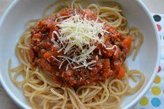 Spaghettisaus die ook nog eens 'mager' of 'light' is, slechts 4 SmartPoints bij Weight Watchers.