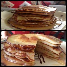 Pancake with honey cream