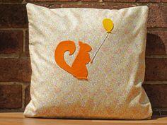 Decorative Cushion Pillow Squirrel Balloon by WhileLokiDreams, £30.00