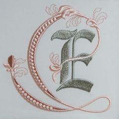 Fleur de Lis Alphabet- E........Sonia Showalter machine embroidery designs