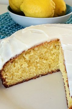 Make use of excess lemons with this delicious lemon and yoghurt cake.