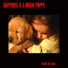 happiness is a warm puppy picture quote #quote #puppy #cute