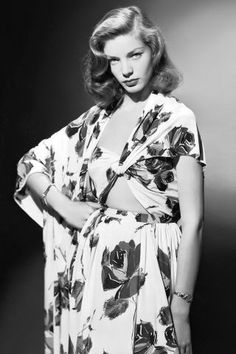 22 iconic vintage photos of style icon Lauren Bacall.